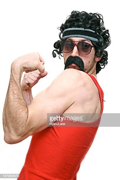 Flexing Muscle Man 1980's guy