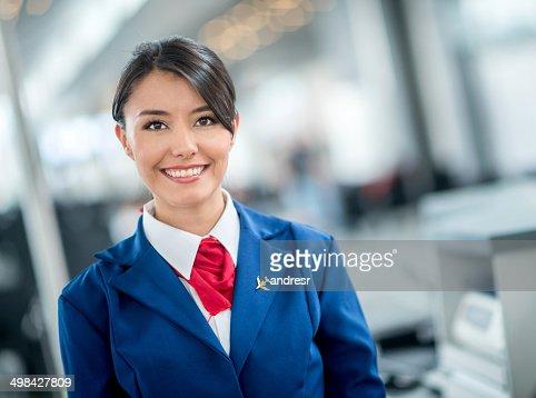 空港での航空便の係員