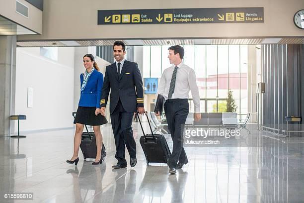 Flight crew coming home