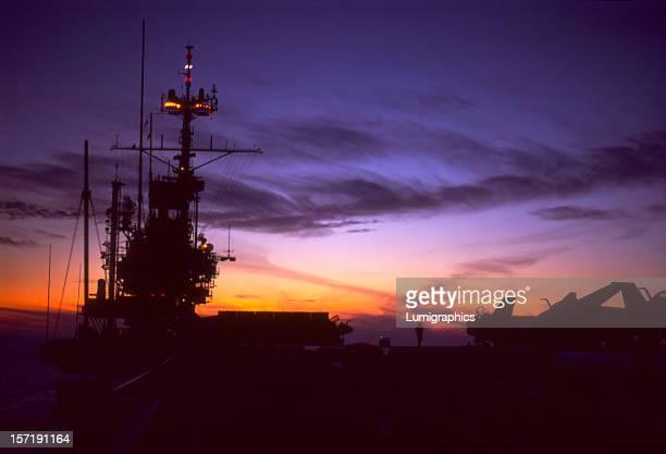 Flight Deck Sunset