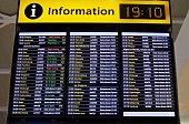 flight information board at airport