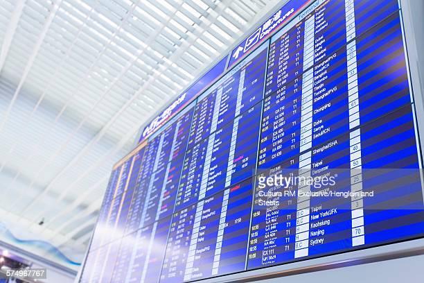 Flight information board, Hong Kong Airport