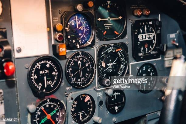 Flight instruments on retired commercial aircraft