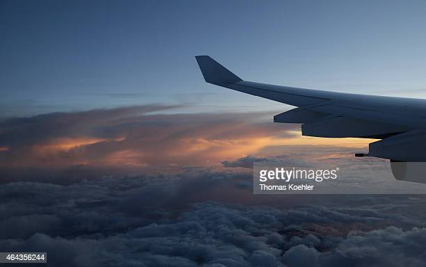 Flight over the Andes Mountains in Peru on February 14 2015 in Andes Mountains Peru
