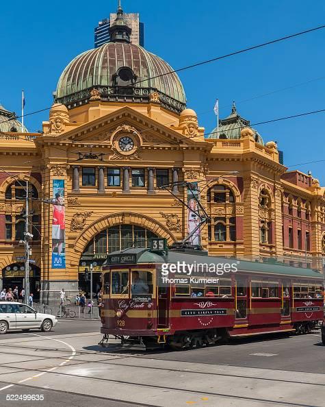 Flinders Street Station and City Circle Tram Melbourne