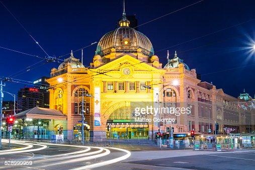 Flinders street station at night, Melbourne
