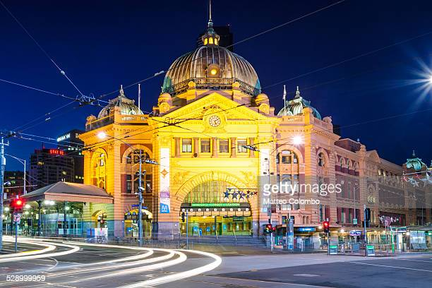Flinders street station at night, Melbourne