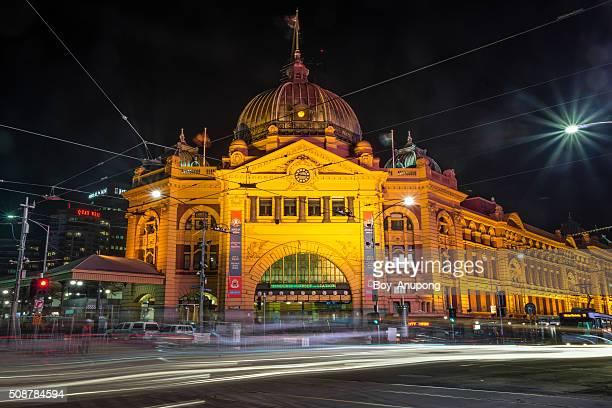 Flinders street station of Melbourne, Australia.