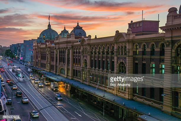 Flinders street station the iconic of Melbourne