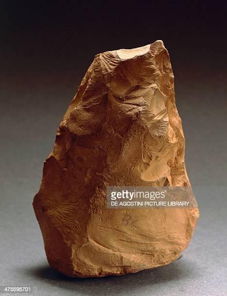 Flint amygdala from Torre Talao Calabria Italy Lower Palaeolithic Reggio Di Calabria Museo Nazionale Della Magna Grecia