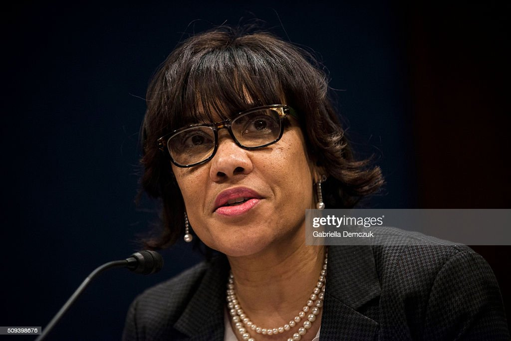 Flint, Michigan Mayor Karen Weaver testifies before the House Democratic Steering & Policy Committee at a hearing titled, 'The Flint Water Crisis: Lessons for Protecting America's Children' at the Capitol on February 10, 2016 in Washington, D.C. House Democrats hold a hearing on the toxic lead water crisis in Flint, MI.