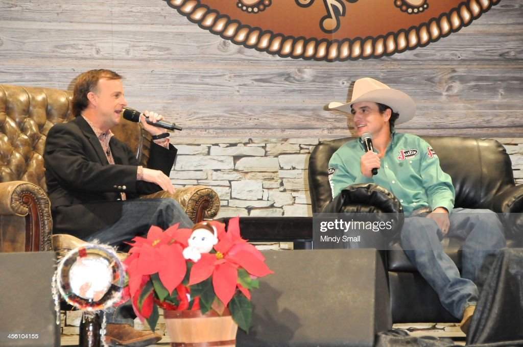 Flint Rasmussen and Ryan Gray attend Cowboy FanFest during the Wrangler National Finals Rodeo at the on December 13, 2013 in Las Vegas, Nevada.