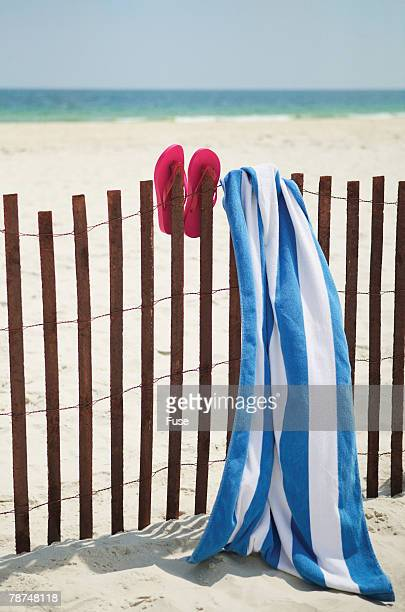 Flip Flops and Towel at the Beach