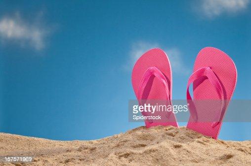 Flip Flops At The Beach