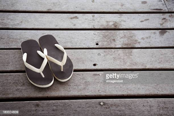Flip flops on the decking