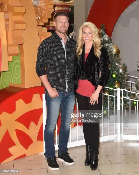 'Flip or Flop Vegas' Stars Bristol and Aubrey Marunde visit HGTV Santa HQ at Los Cerritos Centeron December 1 2017 in Los Angeles California