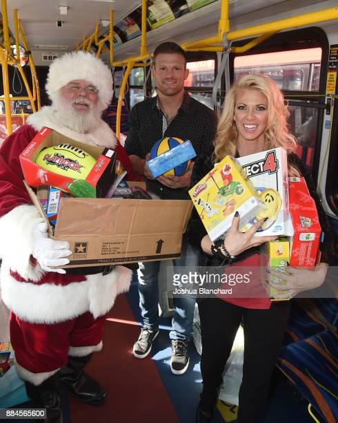 'Flip or Flop Vegas' Stars Bristol and Aubrey Marunde visit with Santa at the HGTV Santa HQ at Los Cerritos Centeron December 1 2017 in Los Angeles...
