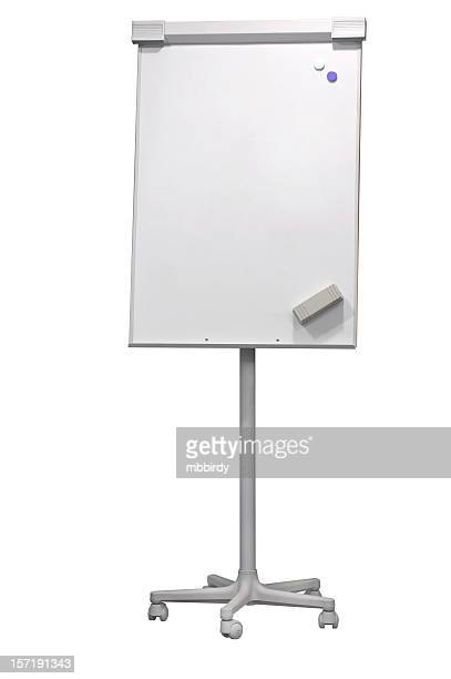 Flip-chart (clipping path), isolated on white background
