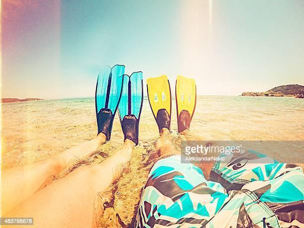Flippers selfie
