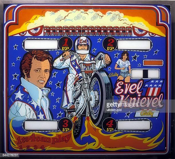 USA Flipperscheibe 'Evel Knievel' Juni 1977