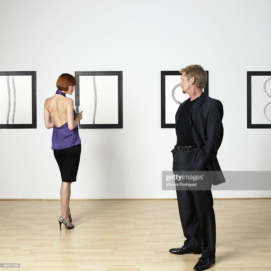 Flirtatious Couple  : Stock Photo