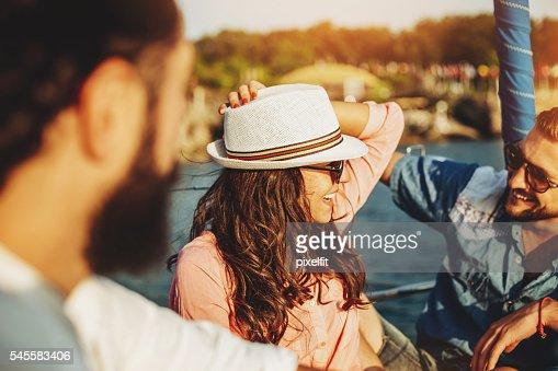 Flirting on a yacht