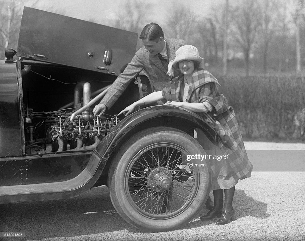 'Flivver plane' pilot a speed merchant Lawrence Sperry who pilots a flivver airplane is something of a speedster when driving an auto His Marmon car...