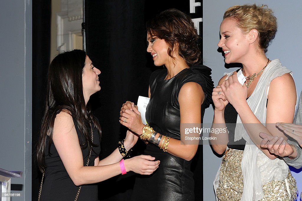 Flmmaker Alexandra Codina, actresses Jessica Alba and actress Abbie Cornish onstage at the Awards Night Show & Party during the 2010 Tribeca Film Festival at the W New York - Union Square on April 29, 2010 in New York City.