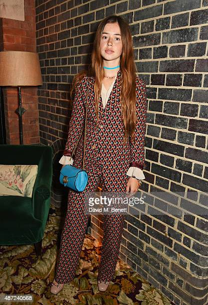 Flo Morrissey attends a dinner party hosted by Leith Clark to celebrate the latest issue of her biannual style bible 'Violet' featuring British...