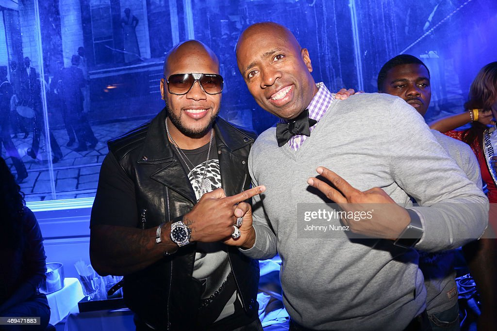 <a gi-track='captionPersonalityLinkClicked' href=/galleries/search?phrase=Flo+Rida&family=editorial&specificpeople=4456012 ng-click='$event.stopPropagation()'>Flo Rida</a> and <a gi-track='captionPersonalityLinkClicked' href=/galleries/search?phrase=Kenny+Smith&family=editorial&specificpeople=221585 ng-click='$event.stopPropagation()'>Kenny Smith</a> attend the Kenny 'The Jet' Smith all-star party during NBA All-Star Weekend 2014 at Metropolitan Nightclub on February 14, 2014 in New Orleans, Louisiana.