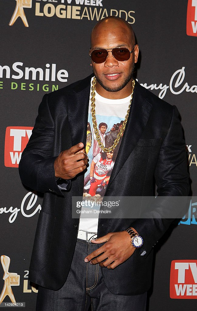 <a gi-track='captionPersonalityLinkClicked' href=/galleries/search?phrase=Flo+Rida&family=editorial&specificpeople=4456012 ng-click='$event.stopPropagation()'>Flo Rida</a> arrives at the 2012 Logie Awards at the Crown Palladium on April 15, 2012 in Melbourne, Australia.