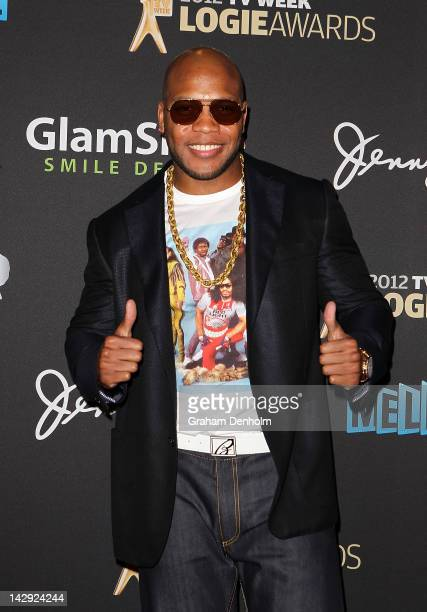 Flo Rida arrives at the 2012 Logie Awards at the Crown Palladium on April 15 2012 in Melbourne Australia