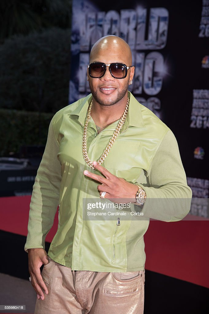 Flo Rida arrives at the World Music Awards at Sporting Monte-Carlo on May 27, 2014 in Monte-Carlo, Monaco.
