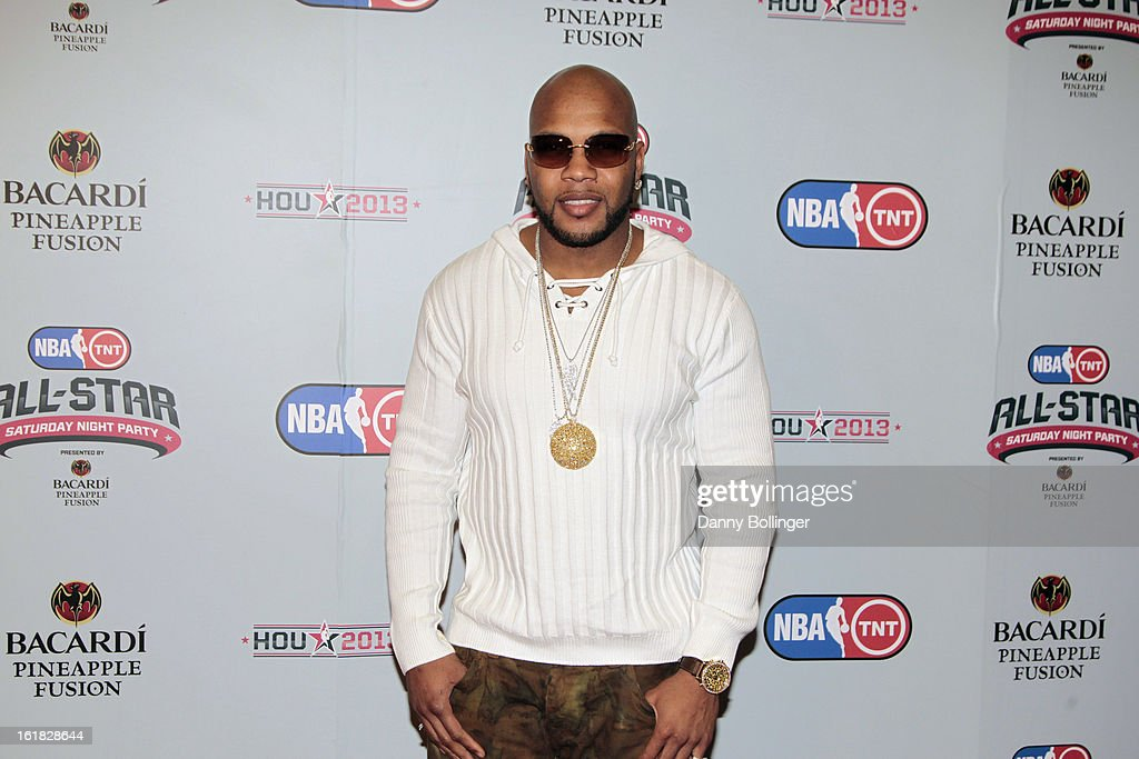 Flo Rida at the NBA on TNT All-Star Saturday Night Party, Presented by Bacardi Pineapple Fusion at House Of Blues on February 16, 2013 in Houston, Texas.