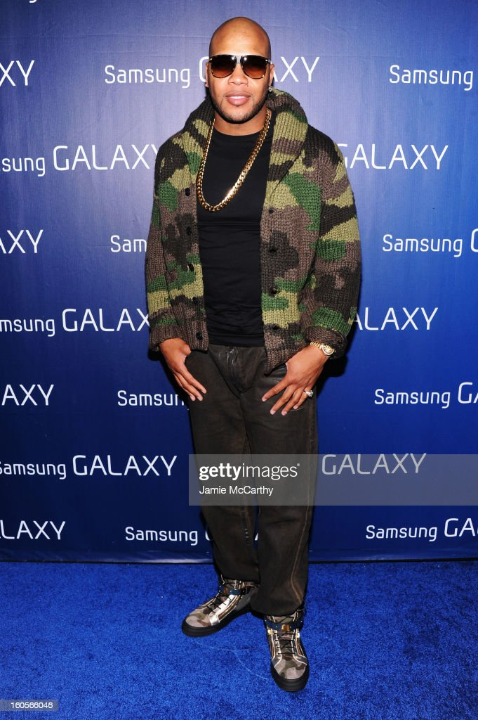 """Flo Rida at the Samsung Galaxy """"Shangri-La"""" Party on February 2, 2013 in New Orleans, Louisiana."""