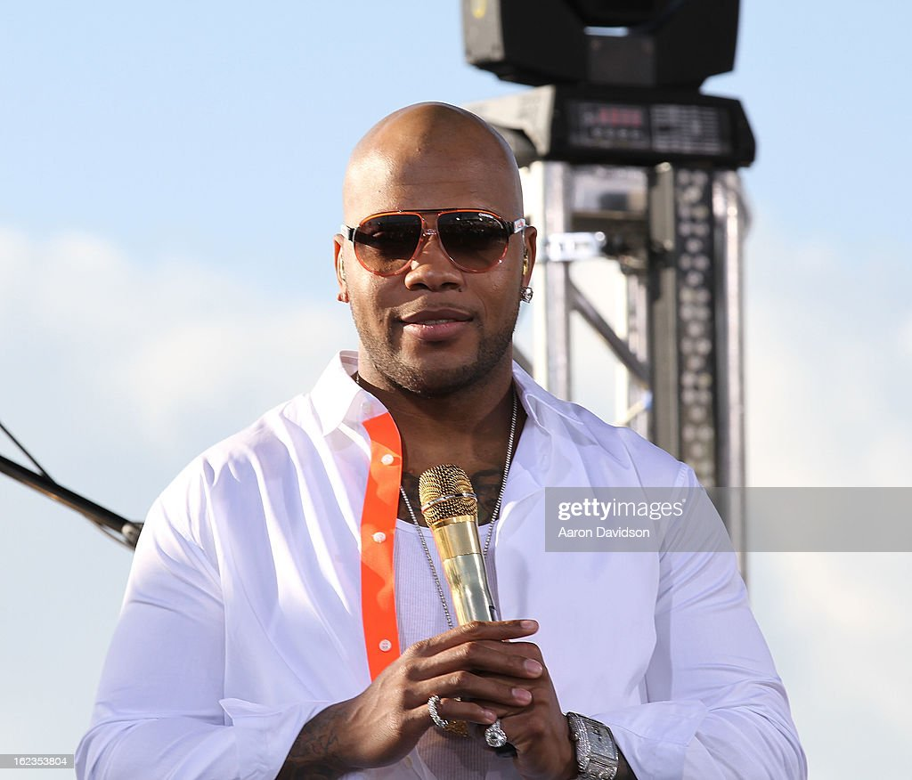 <a gi-track='captionPersonalityLinkClicked' href=/galleries/search?phrase=Flo+Rida&family=editorial&specificpeople=4456012 ng-click='$event.stopPropagation()'>Flo Rida</a> at the Today Show during the South Beach Wine and Food Festival at Loews Miami Beach on February 22, 2013 in Miami Beach, Florida.