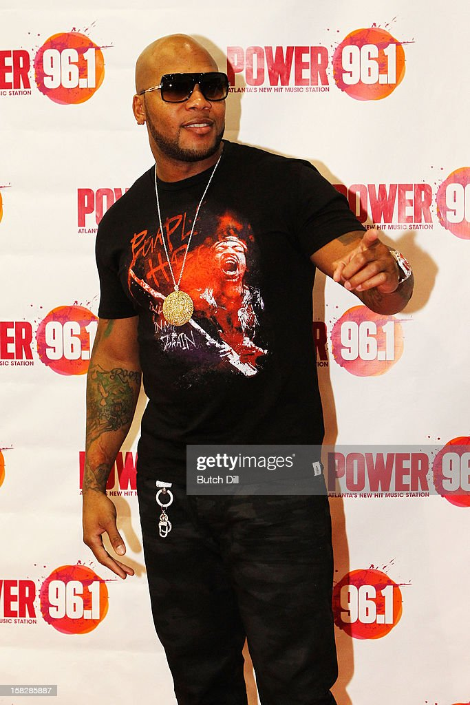 Flo Rida attends Power 96.1's Jingle Ball 2012 at the Philips Arena on December 12, 2012 in Atlanta.