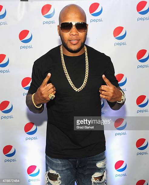 Flo Rida attends the Pepsi and iHeartRadio Summer Kickoff Party on board the Hornblower Infinity on June 1 2015 in New York City