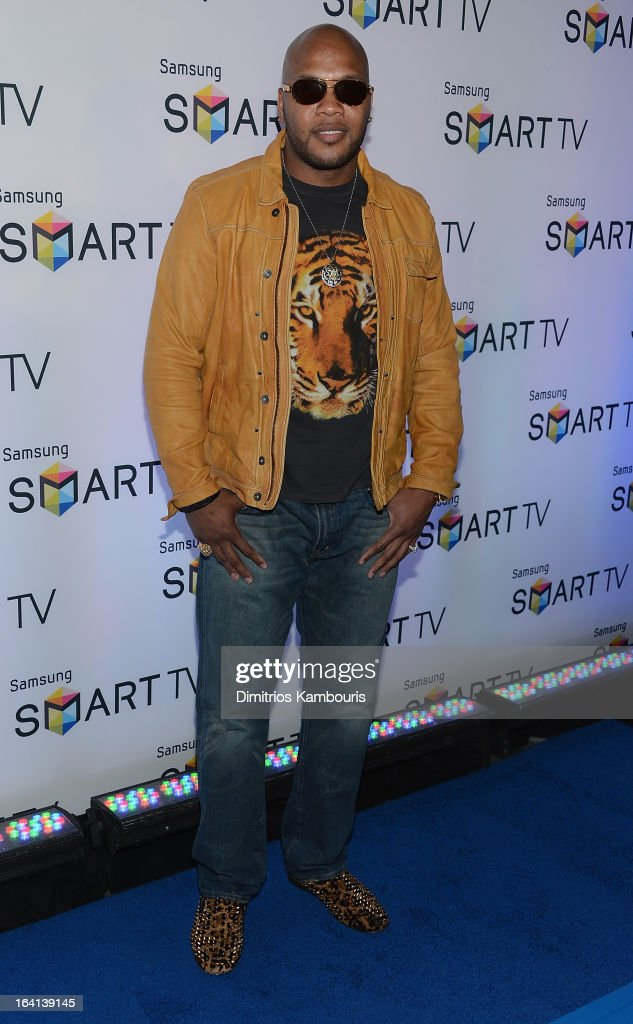 Flo Rida attends the Samsung 2013 Television Line Launch Event at the Museum Of American Finance on March 20, 2013 in New York City.