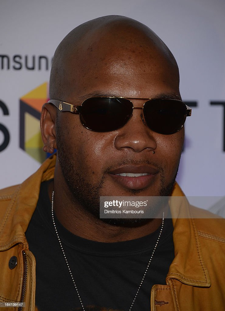 <a gi-track='captionPersonalityLinkClicked' href=/galleries/search?phrase=Flo+Rida&family=editorial&specificpeople=4456012 ng-click='$event.stopPropagation()'>Flo Rida</a> attends the Samsung 2013 Television Line Launch Event at the Museum Of American Finance on March 20, 2013 in New York City.
