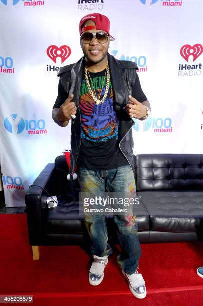 Flo Rida attends Y100's Jingle Ball 2013 Presented by Jam Audio Collection at BBT Center on December 20 2013 in Miami Florida