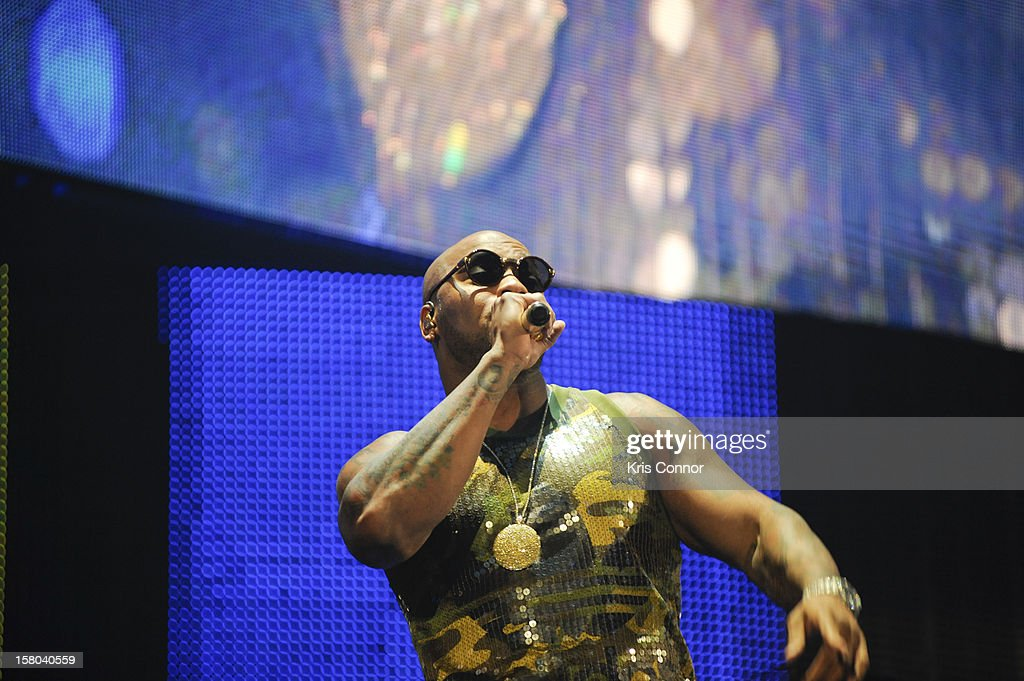 Flo Rida performs during the 10th anniversary of WWE Tribute to the Troops at Norfolk Scope Arena on December 9, 2012 in Norfolk, Virginia.