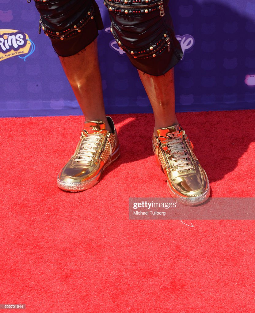 Flo Rida, shoe detail, attends the 2016 Radio Disney Music Awards at Microsoft Theater on April 30, 2016 in Los Angeles, California.