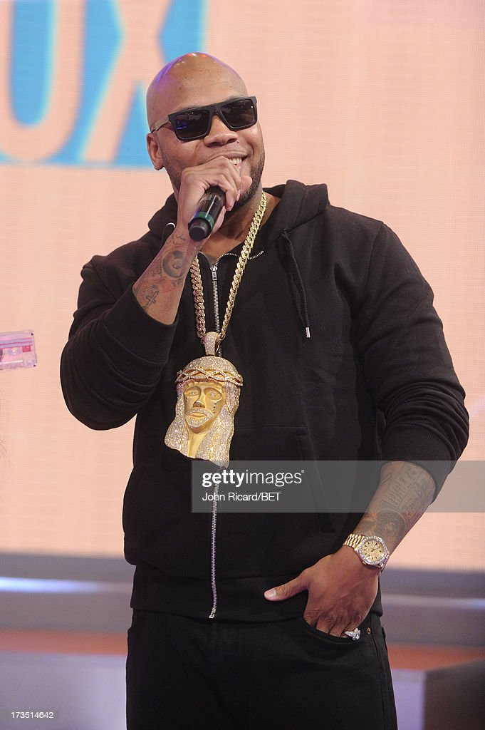 <a gi-track='captionPersonalityLinkClicked' href=/galleries/search?phrase=Flo+Rida&family=editorial&specificpeople=4456012 ng-click='$event.stopPropagation()'>Flo Rida</a> visits BET's 106 & Park at BET Studios on July 15, 2013 in New York City.