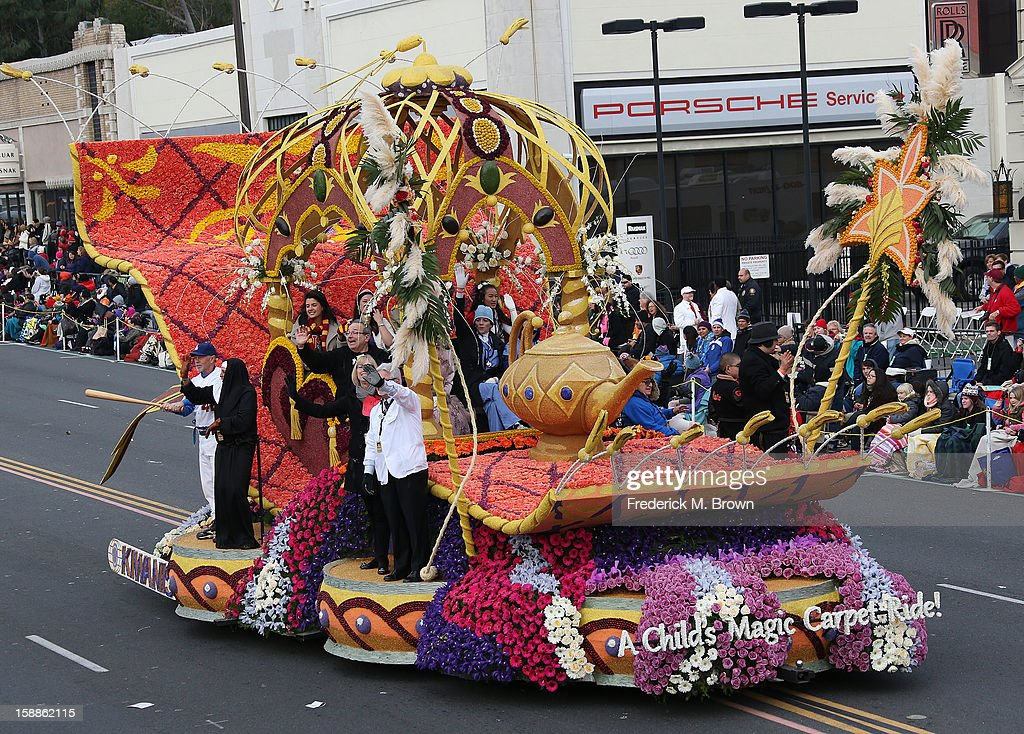 A float on the parade route during the 124th Rose Parade Presented By Honda on January 1, 2013 in Pasadena, California.