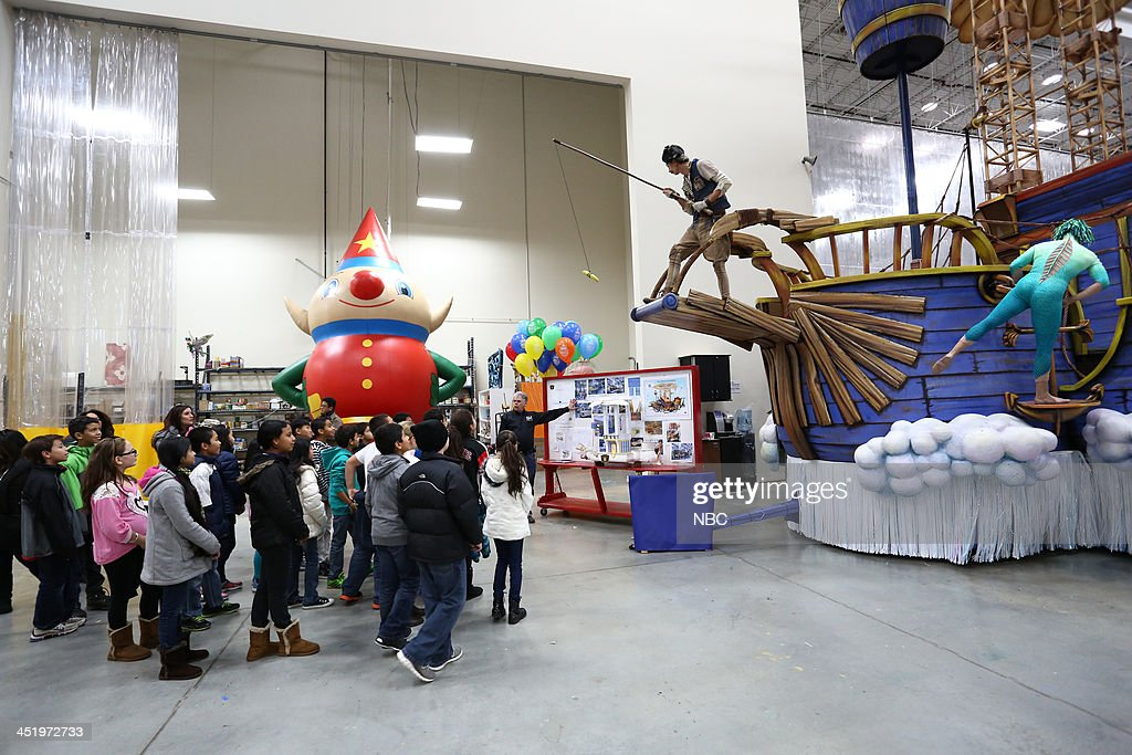 S THANKSGIVING DAY PARADE -- Float Studio Event -- Pictured: Cirque Du Soleil float --