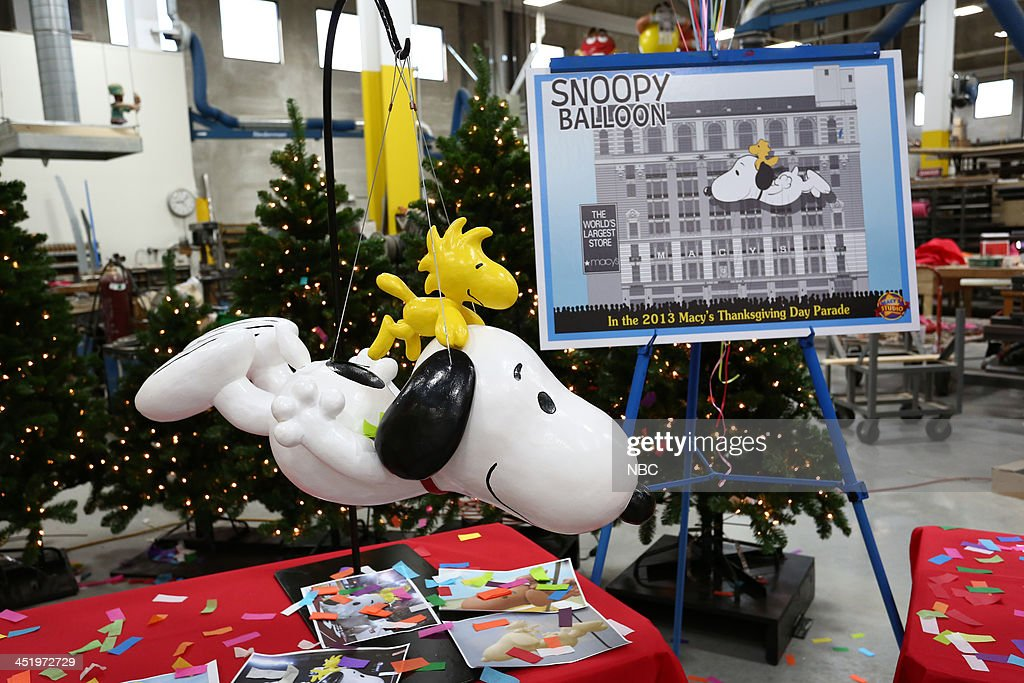 S THANKSGIVING DAY PARADE -- Float Studio Event -- Pictured: Snoopy display --