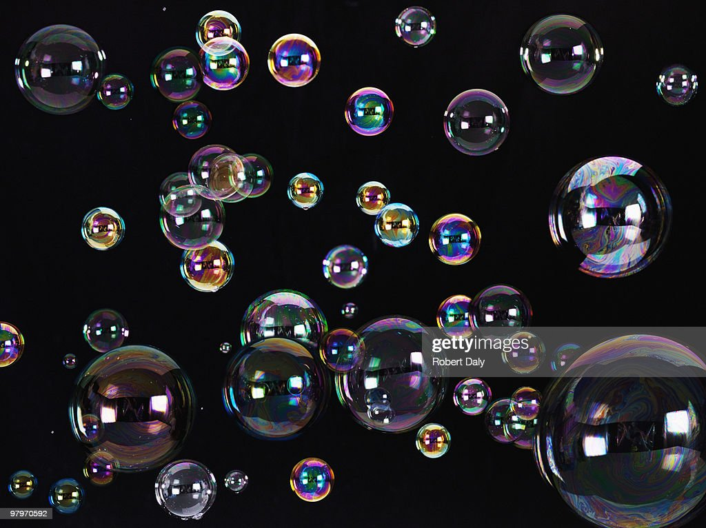 Floating bubbles : Stock Photo