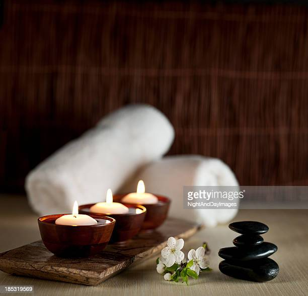 Floating Candles in a Zen Spa  -- XXL Background