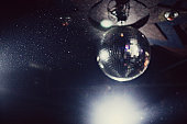 Floating dust and disco ball